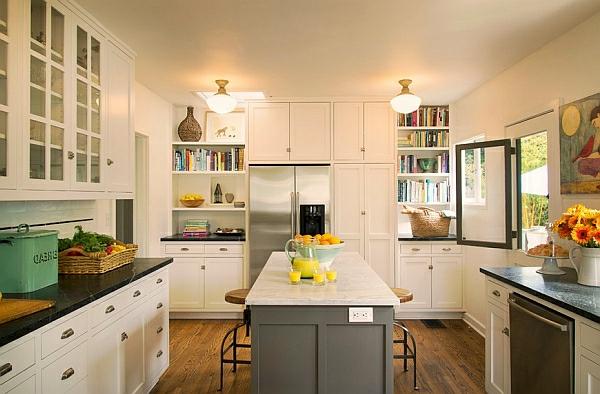 regale bücher Farben für Küchenschränke bibliothek grau platten