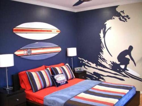 Schön Attraktiv Jungen Surfboard Farbgestaltung Fürs Jugendzimmer