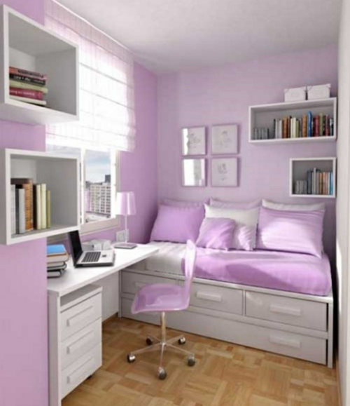 Jugendzimmer wandgestaltung farbe mädchen  Farbgestaltung fürs Jugendzimmer - 100 Deko- und Einrichtungsideen