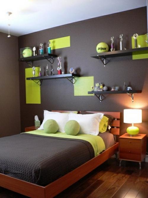 Kinderzimmer junge wandgestaltung grün blau  Farbgestaltung fürs Jugendzimmer - 100 Deko- und Einrichtungsideen