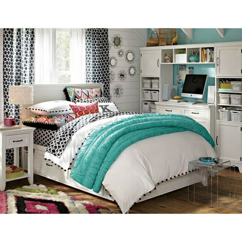 Farbgestaltung  Jugendzimmer mädchen weich matratze