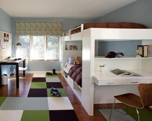 maskulin hochbett Farbgestaltung fürs Jugendzimmer braun