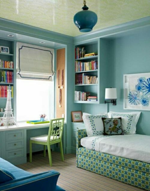 traditionell schreibtisch Farbgestaltung fürs Jugendzimmer fensterladen