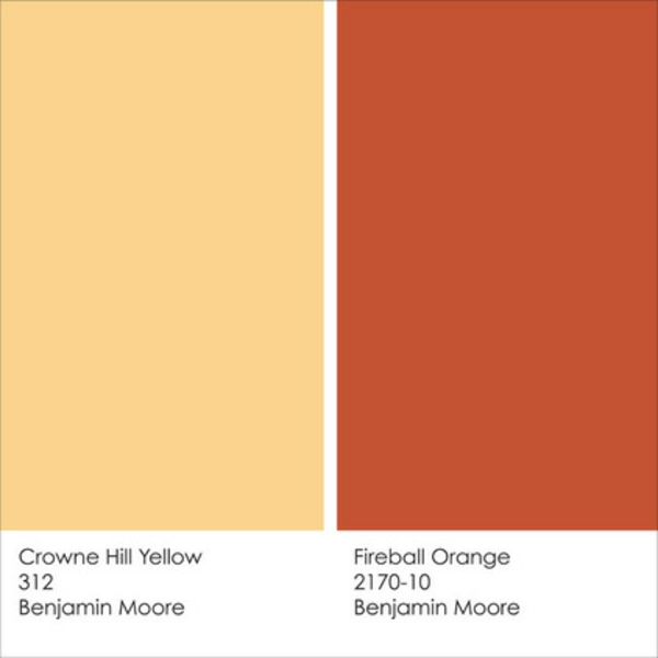 Farbgestaltung und Wandfarben Ideen feuerball gelb orange