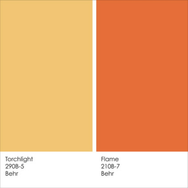 Deep Orange Is Good For Kitchen Wall