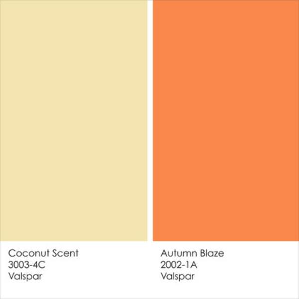 Ideen herbst kokonuss Farbgestaltung und Wandfarben