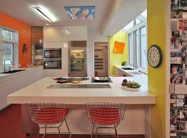farbgestaltung und wandfarben ideen umgang mit gelb und orange. Black Bedroom Furniture Sets. Home Design Ideas
