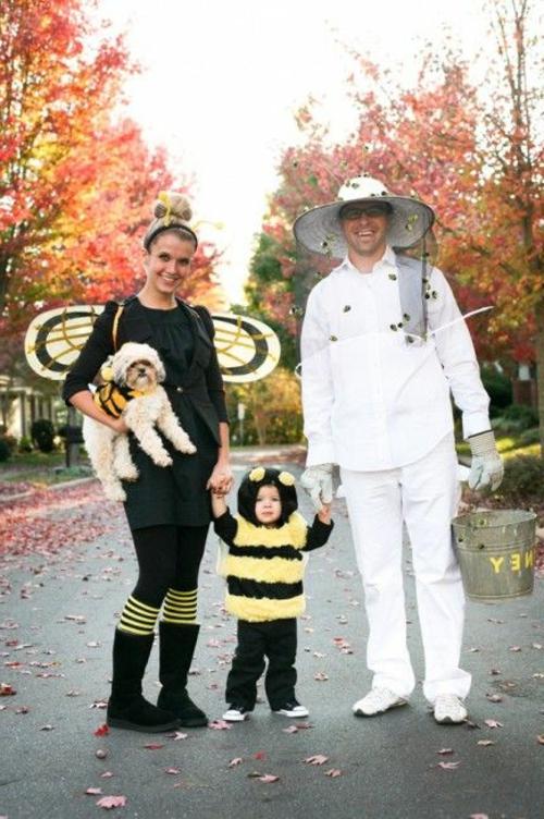 biene familie Faschingsideen Karneval Kostüme