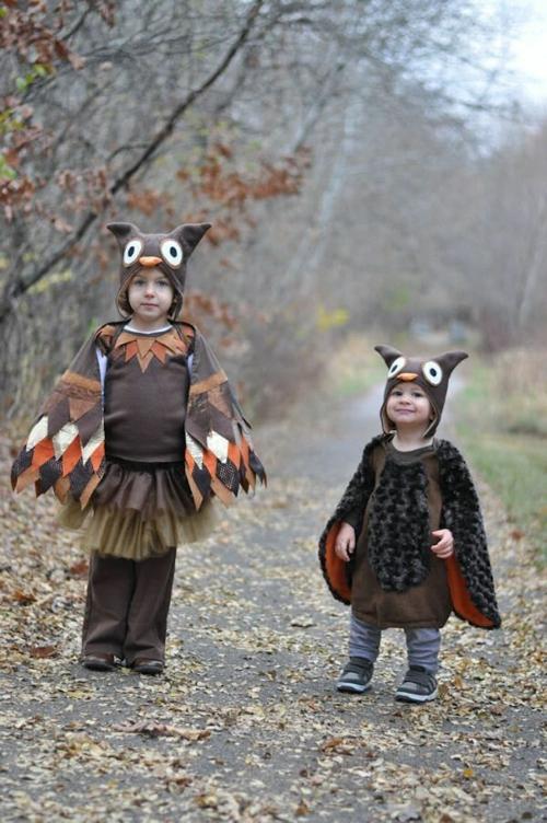 kinder Faschingsideen und Karneval Kostüme eule