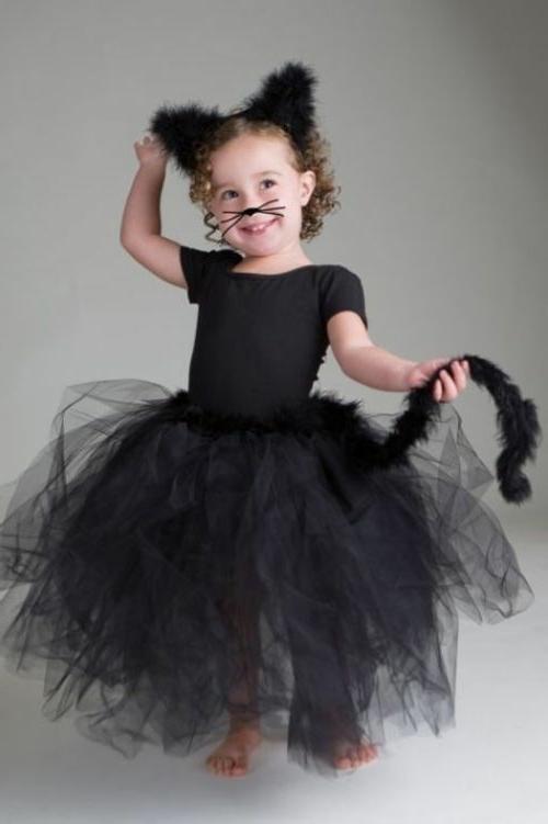 Kostüme Faschingsideen und Karneval kinder schwarze katze