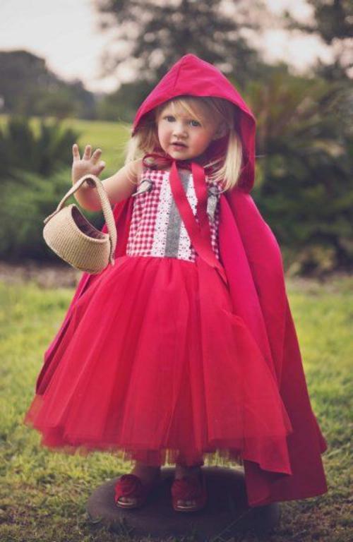 rotkäppchen Faschingsideen und Karneval Kostüme klein süß