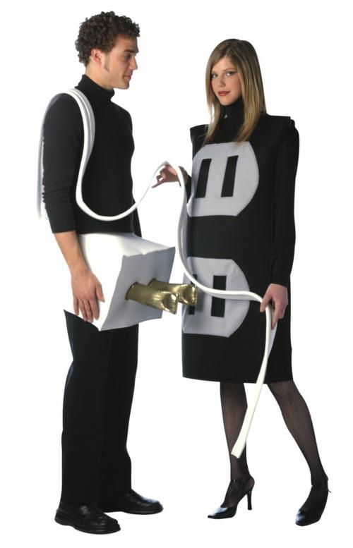 Faschingsideen und Karneval Kostüme steckdosen Hochspannung