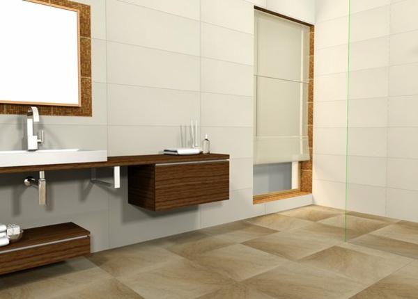 Bodenfliesen beeinflussen das Gesamtbild des Badezimmers
