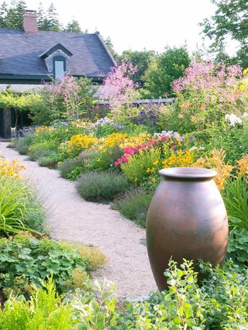 bodenvase Gartengestaltung mit Kies dekorativ