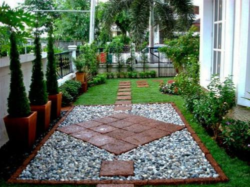 34 ideen für gartengestaltung mit kies - preisgünstige lösung, Gartenarbeit ideen