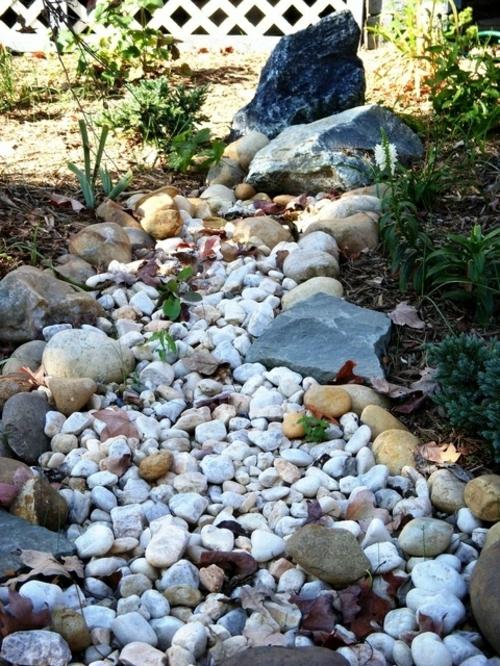 Gartengestaltung sonniges wetter mit Kies natürlich fabelhaft