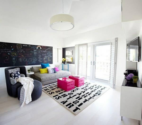 Jugendzimmer und Aufenthaltsraum für Teenager helle atmosphäre