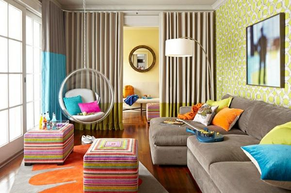 Jugendzimmer und Aufenthaltsraum für Teenager muster farben fröhlich