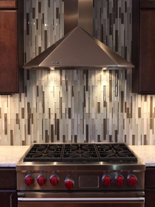 einbauen  Küchenrückwand abstrakt stil