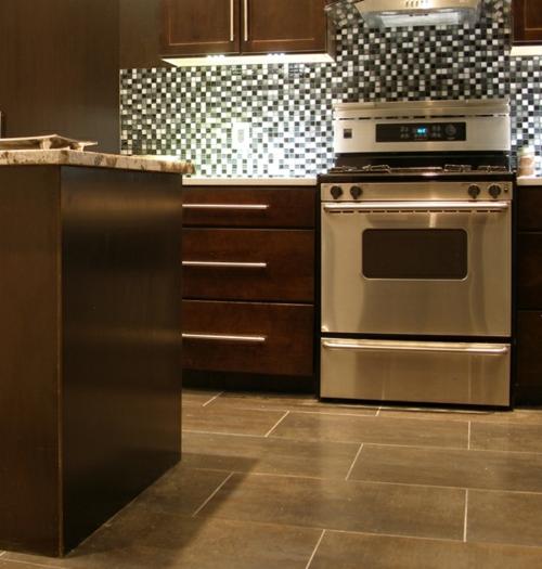 einbauen Küchenrückwand  gut beleuchtet