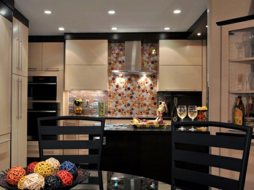 modern innendesign Küchenrückwand einbauen lebhaft