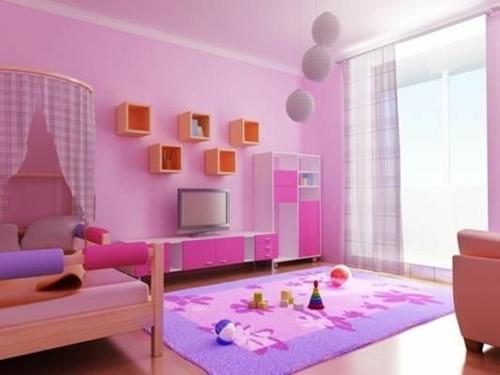 Kinderzimmer  idee design tafel bunt mädchenhaft streichen wandgestaltung
