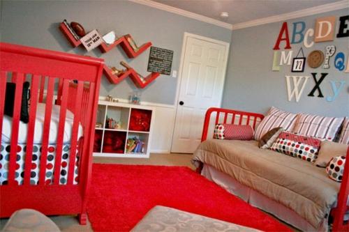 kinderzimmer streichen - 20 bunte dekoideen - Kinderzimmer Streichen Rot