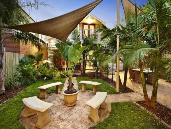 Gartengestaltung Gartenideen landschaft markise