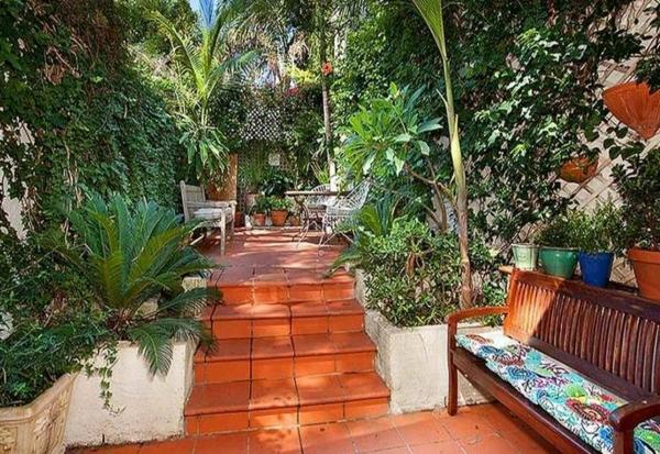 üppige Gartengestaltung Gartenideen landschaft trends einladend exotisch