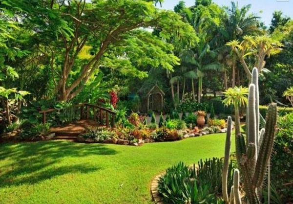 frische Gartengestaltung Gartenideen landschaft trends einladend leuchtend