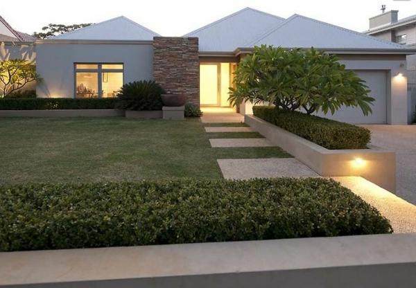 gebüsche Gartengestaltung Gartenideen landschaft trends einladend nachts