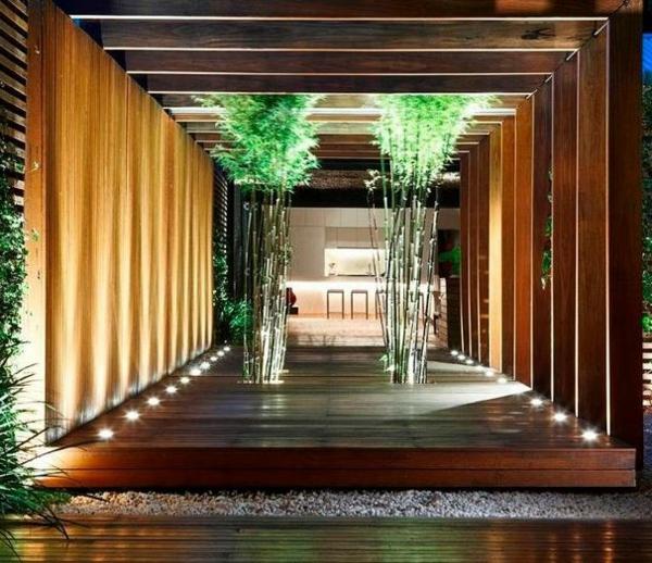 beleuchtung Gartenideen landschaft trends einladend tunnel