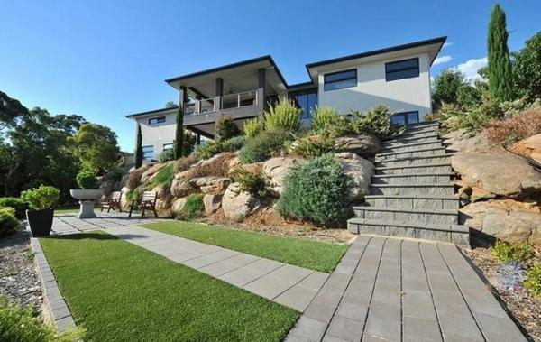 steine Gartenideen landschaft trends Moderne Gartengestaltung gebüsche