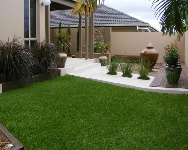 pflanzenkübel Gartenideen landschaft trends großflächig Moderne Gartengestaltung