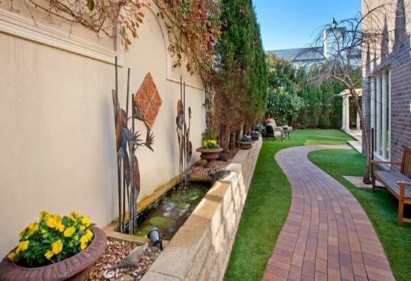 mauer Gartenideen landschaft trends hinterhof Moderne Gartengestaltung