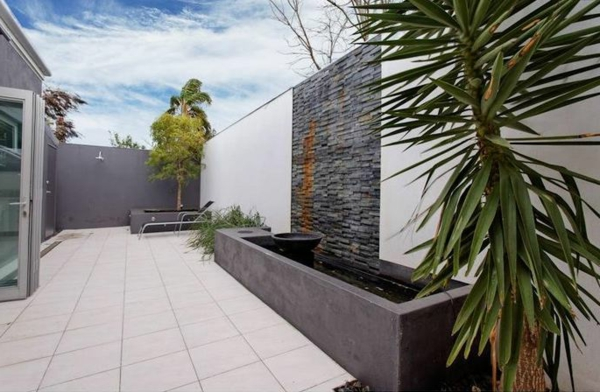 grau monochromatisch Gartenideen landschaft trends kübel