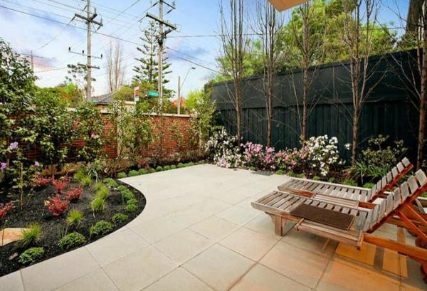 holz liegen Gartenideen landschaft trends massiv