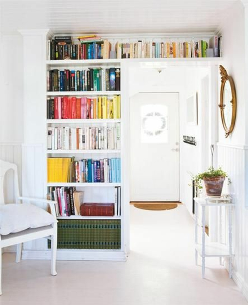 wohnen schön Offener Bücherschrank bücherregale gemütlich modern