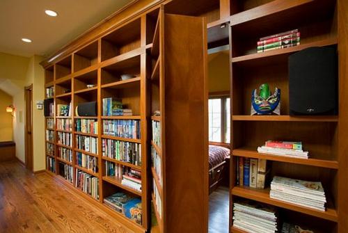 wohnen schön gemütlich regale Offener Bücherschrank bücherregale