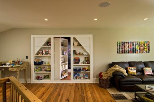 Tür Verstecken offener bücherschrank einen bücherregal zugang einbauen