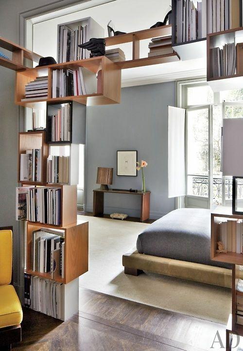 modern modular offen bücherregale wohnen treppe
