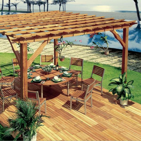 Magnificent Pergola bauen oder wie kann man eine Gartenlaube selbst errichten 600 x 600 · 387 kB · jpeg