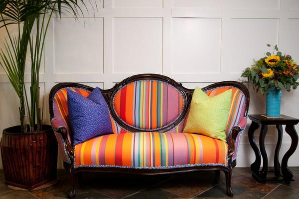 Polstermöbel und Wohnlandschaft eklektisch sofa streifen bunt