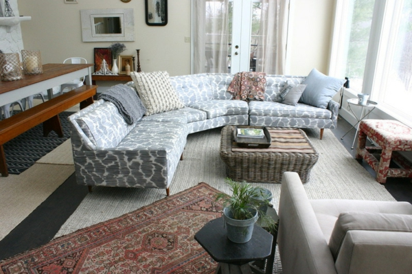 Polstermöbel und Wohnlandschaft rattan couchtisch sofa
