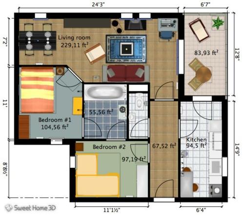 Raum gestalten online planen einrichtung schlafzmimer küche