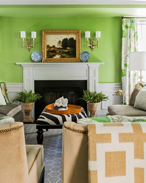 Einrichtungsideen fürs Wohnzimmer einbaukamin tradition