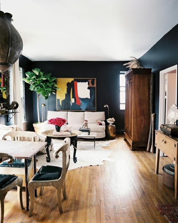 dunkel mattiert  Schicke Einrichtungsideen fürs Wohnzimmer