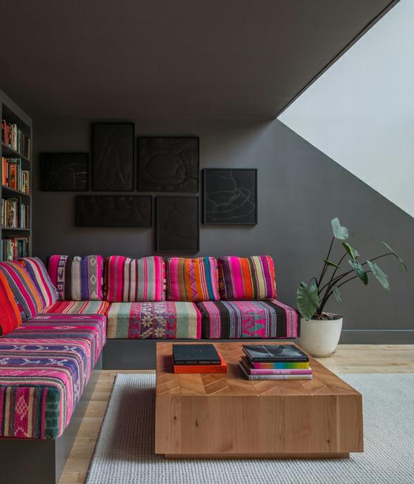 orientalisch Schicke Einrichtungsideen fürs Wohnzimmer auflagen