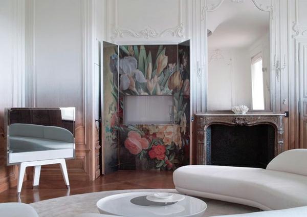 rosen muster Schicke Einrichtungsideen fürs Wohnzimmer