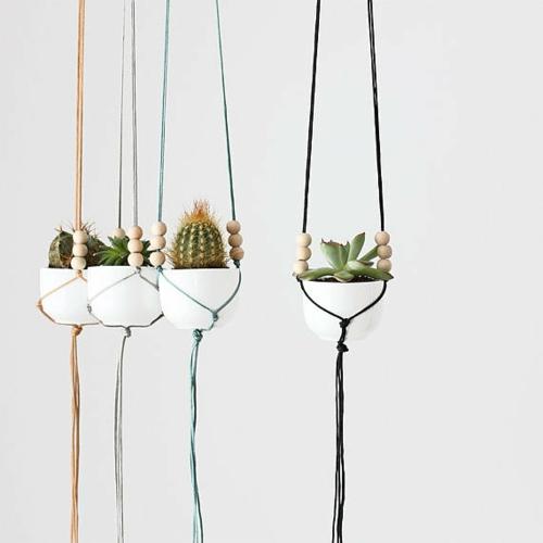 gartengestaltung minimalistisch hängetöpfe Selbstgemachte Gartendeko DIY